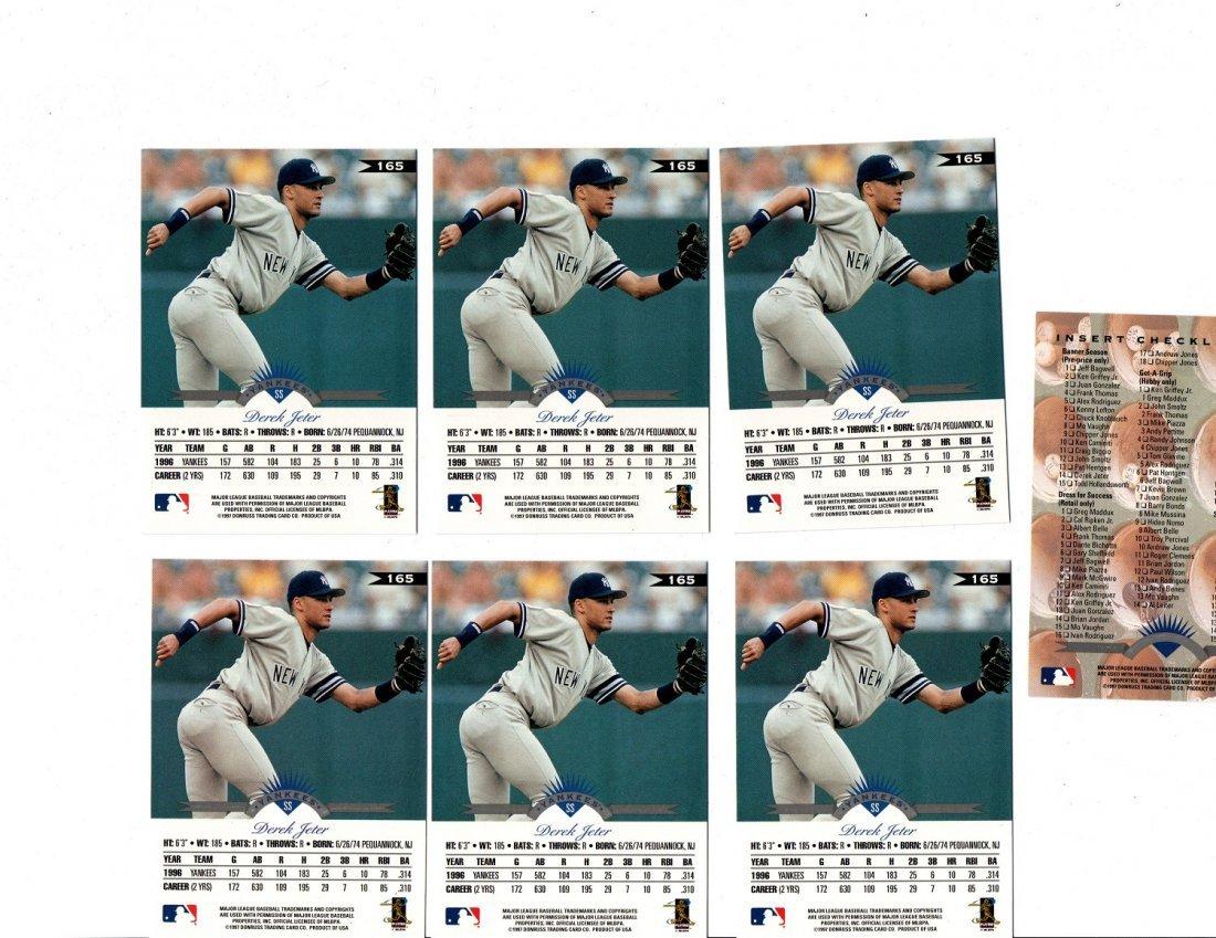 Derek Jeter Baseball Card Lot Sports New York Yankees - 2