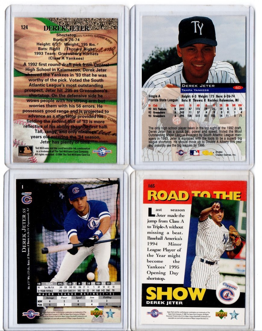 Derek Jeter Baseball Card Lot Sports - 2
