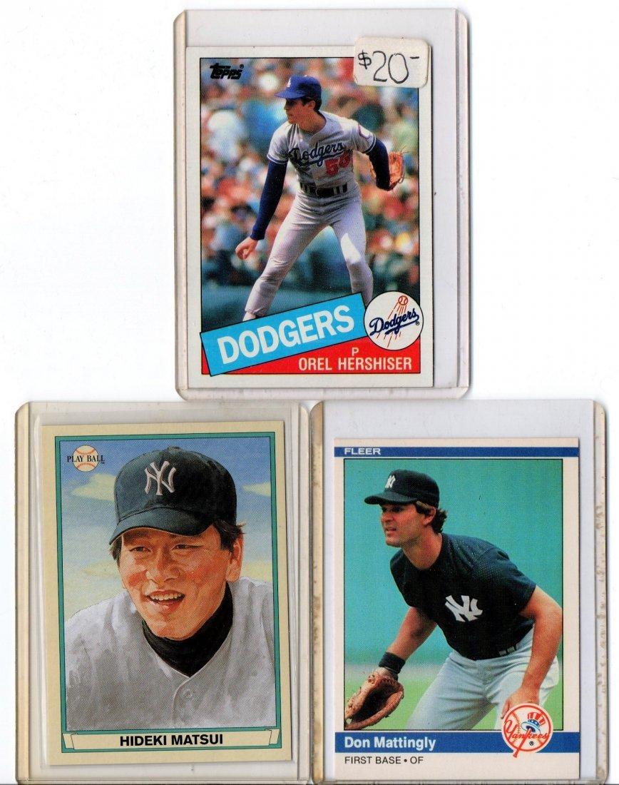 Baseball Card Lot Sports Hershiser, Matsui, Mattingly