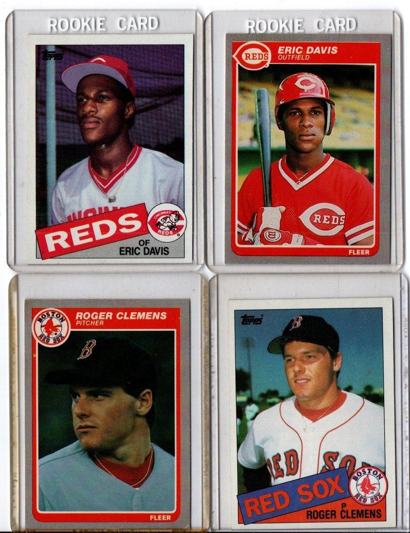 Baseball Card Sports Lot, Eric Davis, Roger Clemens