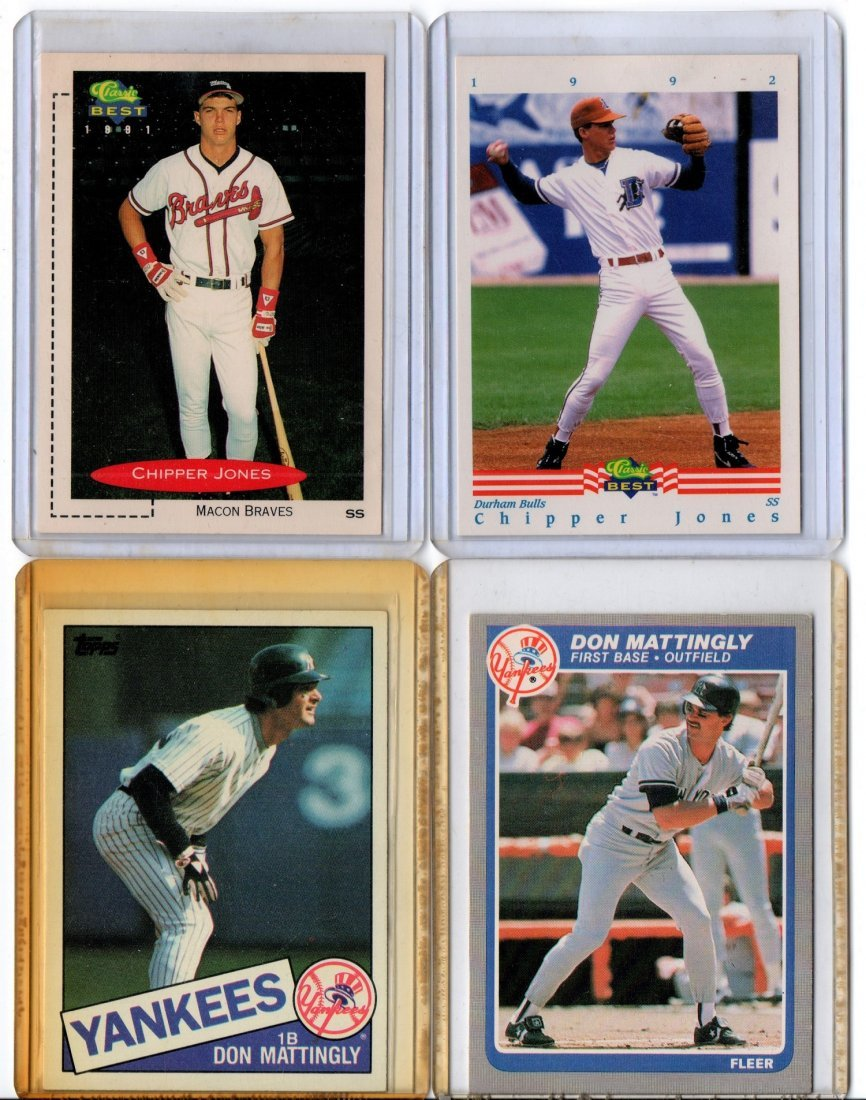 Baseball Card Sports Lot, Clipper Jones, Don Mattingly