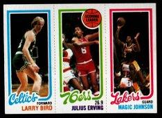 BASKETBALL LEADER BIRD,ERVING,JOHNSON 1980 TOPPS