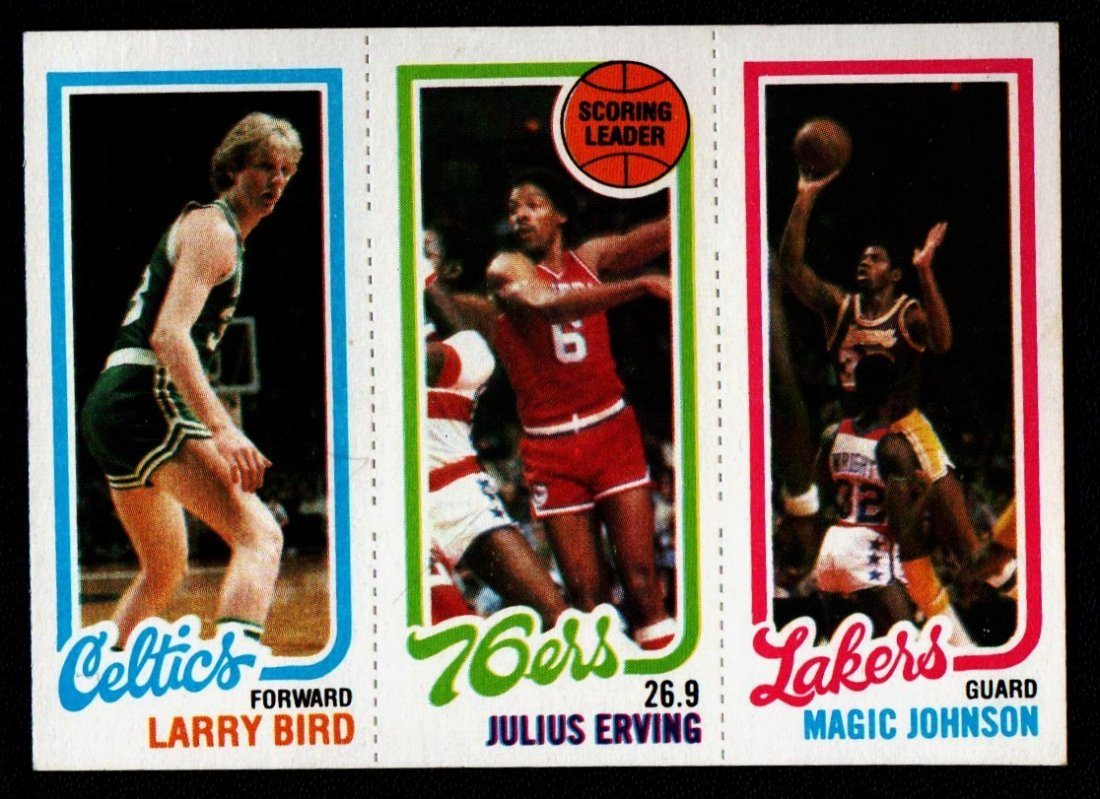 BASKETBALL LEADER BIRD,ERVING,JOHNSON 1980 TOPPS