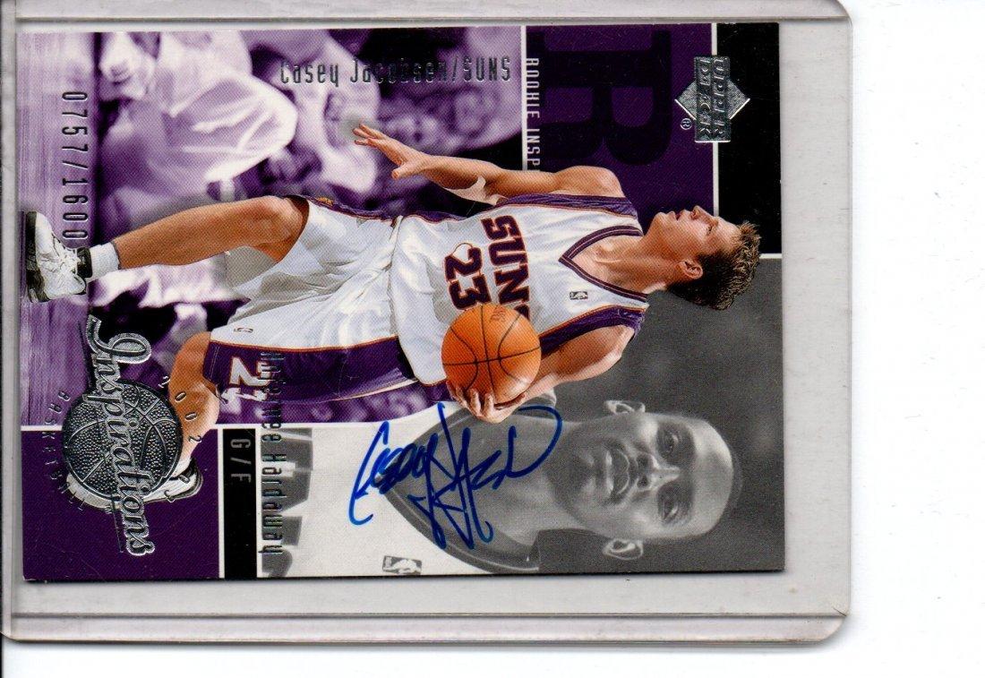 Autographe Basketball Casey Jacobsen upper Deck