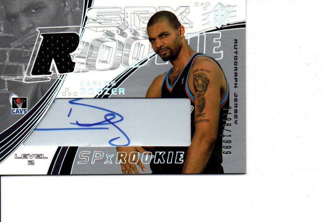 CARLOS BOOZER 2002 AUTOGRAPH NBA BASKETBALL CARD