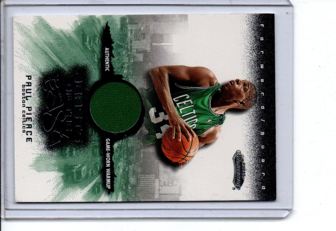 PAUL PIERCE GAME WORN NBA BASKETBALL CARD