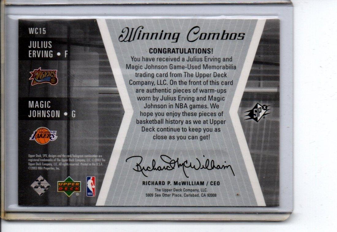 JULIUS IRVING, MAGIC JOHNSON NBA BASKETBALL CARD - 2