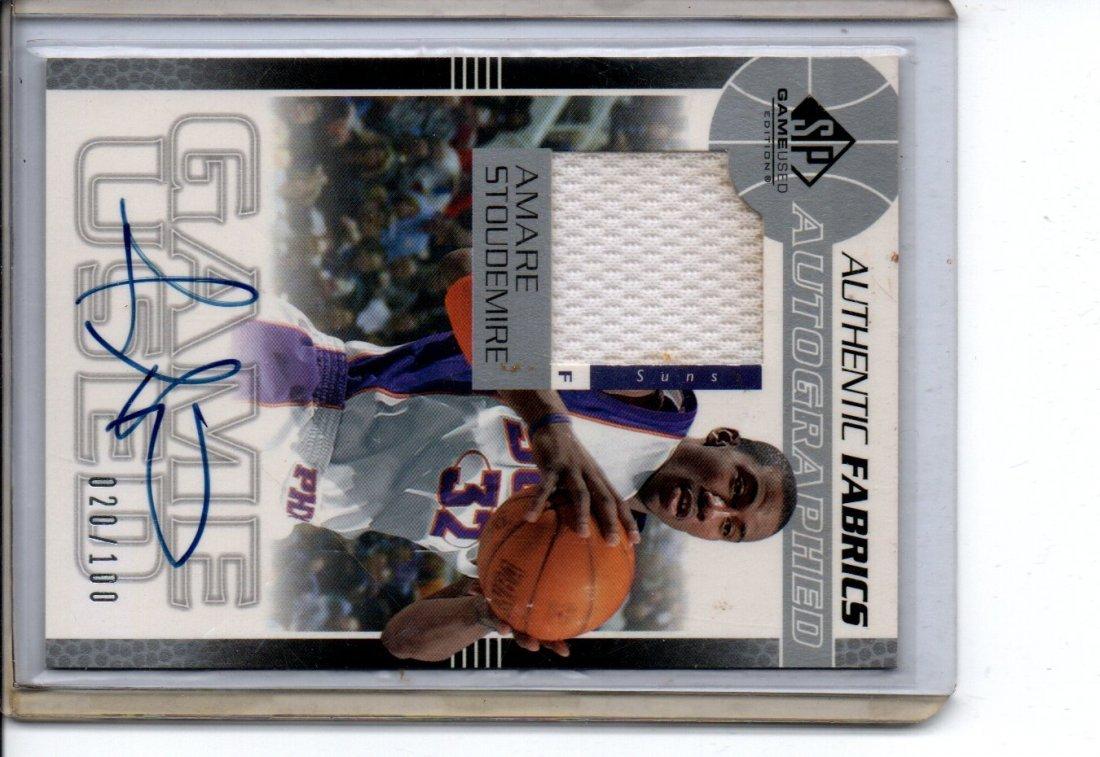 AMARE STOUDEMIRE AUTOGRAPH NBA BASKETBALL CARD