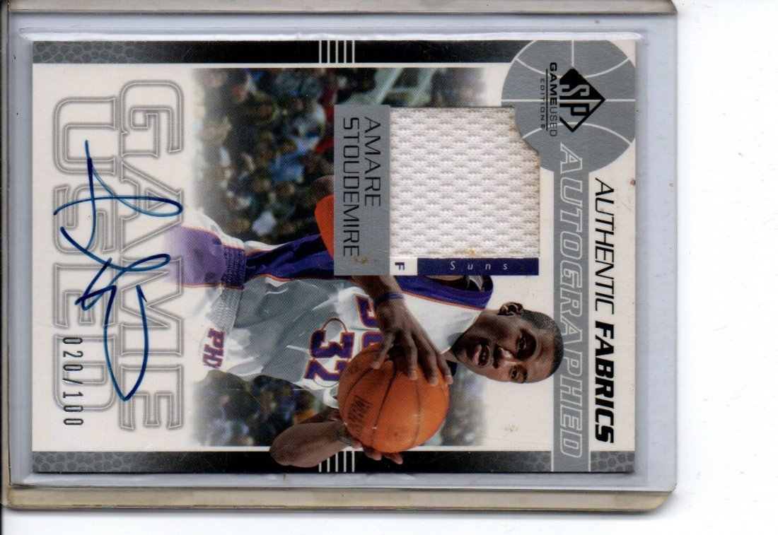 AMARE STOUDEMIRE AUTOGRAPH NBA BASKETBALL CARD