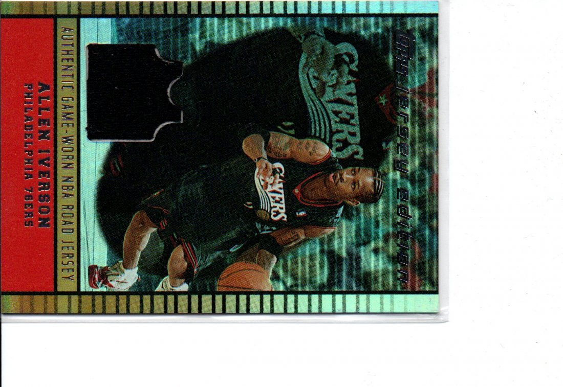 ALLEN IVERSON TOPPS NBA BASKETBALL CARD