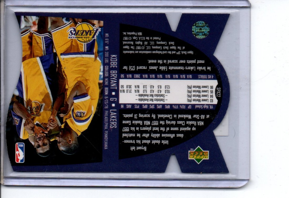 KOBE BRYANT NBA BASKETBALL CARD - 2