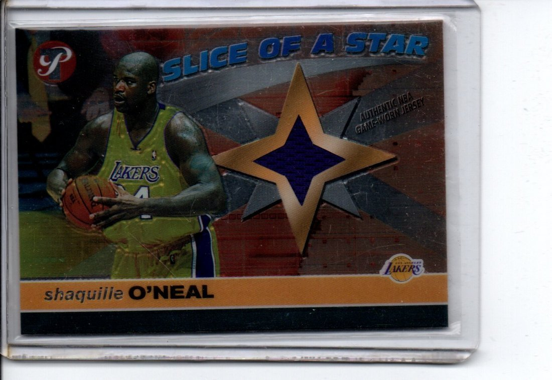 SHAQUILLE O'NEAL GAME WORN JERSEY NBA BASKETBALL CARD