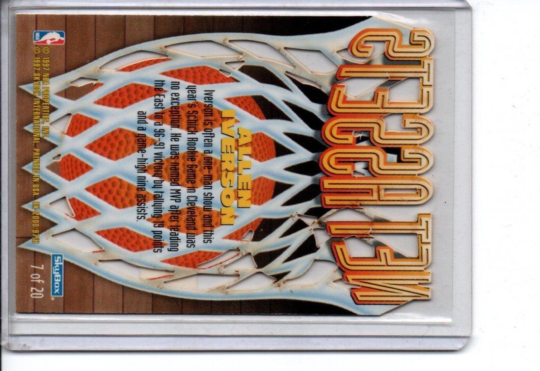 ALLEN IVERSON #7/20 SKYBOX NBA BASKETBALL CARD - 2
