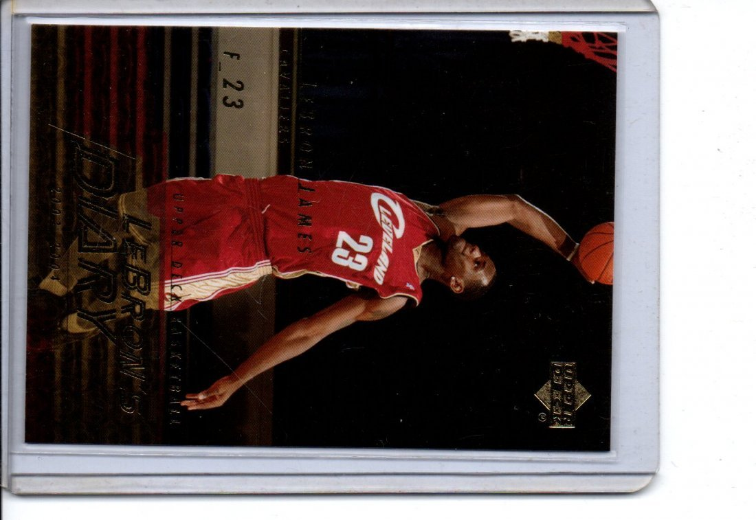 LEBRON JAMES UPPER DECK 2004 NBA BASKETBALL CARD