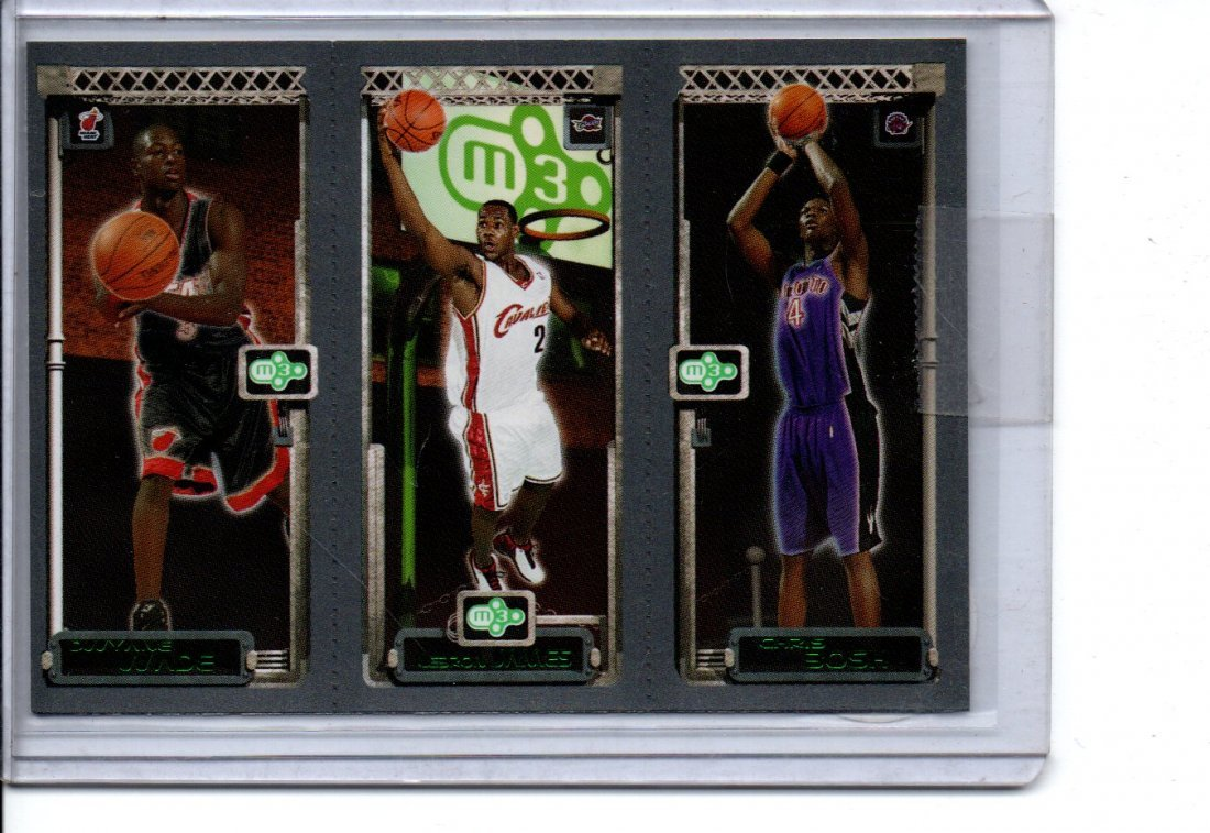 BOSH / JAMES / WADE TOPPS  NBA BASKETBALL CARD