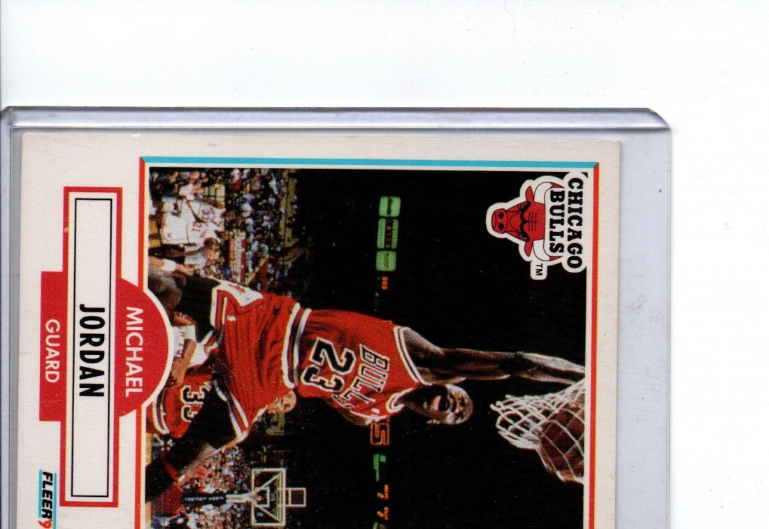 MICHAEL JORDAN 1990 FLEER NBA BASKETBALL CARD