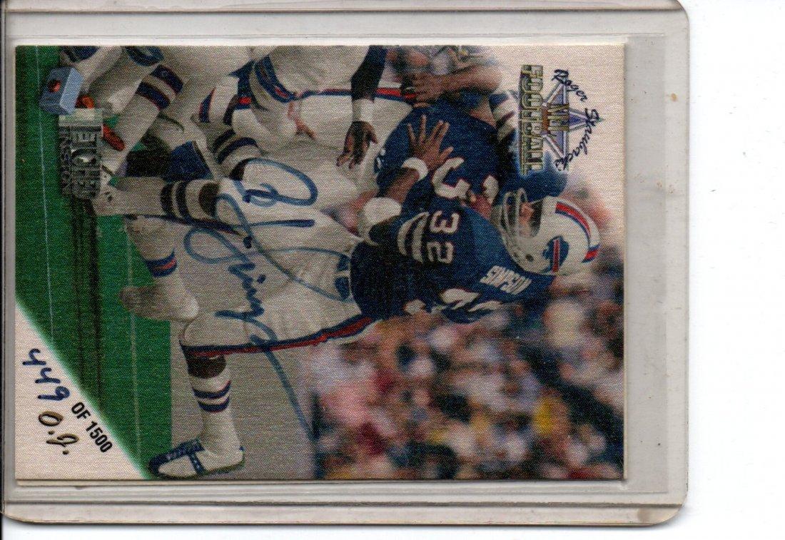O.J. SIMPSON AUTOGRAPH NFL FOOTBALL CARD