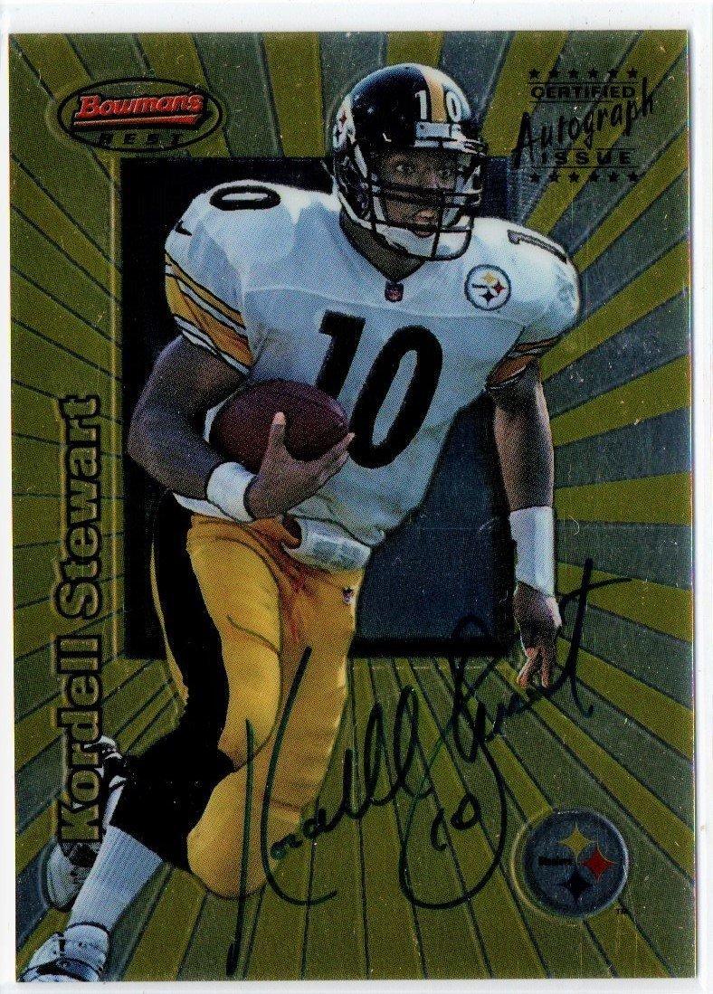 KORDELL STEWART BOWMANS AUTOGRAPH NFL FOOTBALL CARD