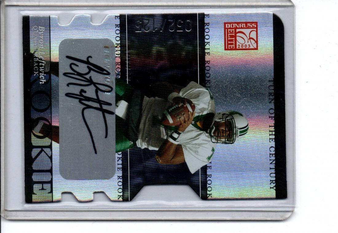 BYRON LEFTWICH ROOKIE AUTOGRAPH NFL FOOTBALL CARD