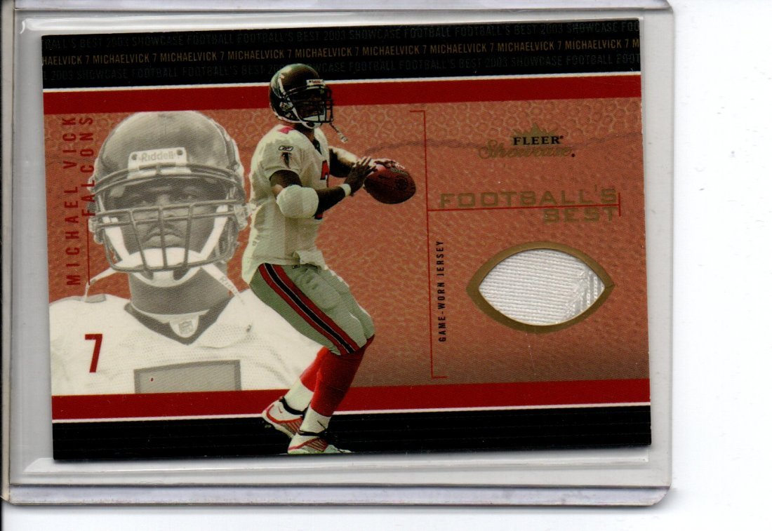 MICHAEL VICK GAME WORN JERSEY NFL FOOTBALL CARD