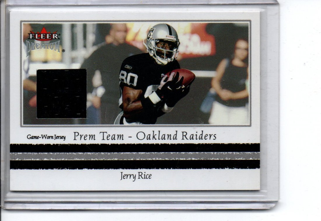 JERRY RICE FLEER GAME WORN JERSEY NFL FOOTBALL CARD