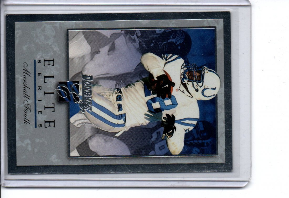 MARSHALL FAULK ELITE DONRUSS NFL FOOTBALL CARD