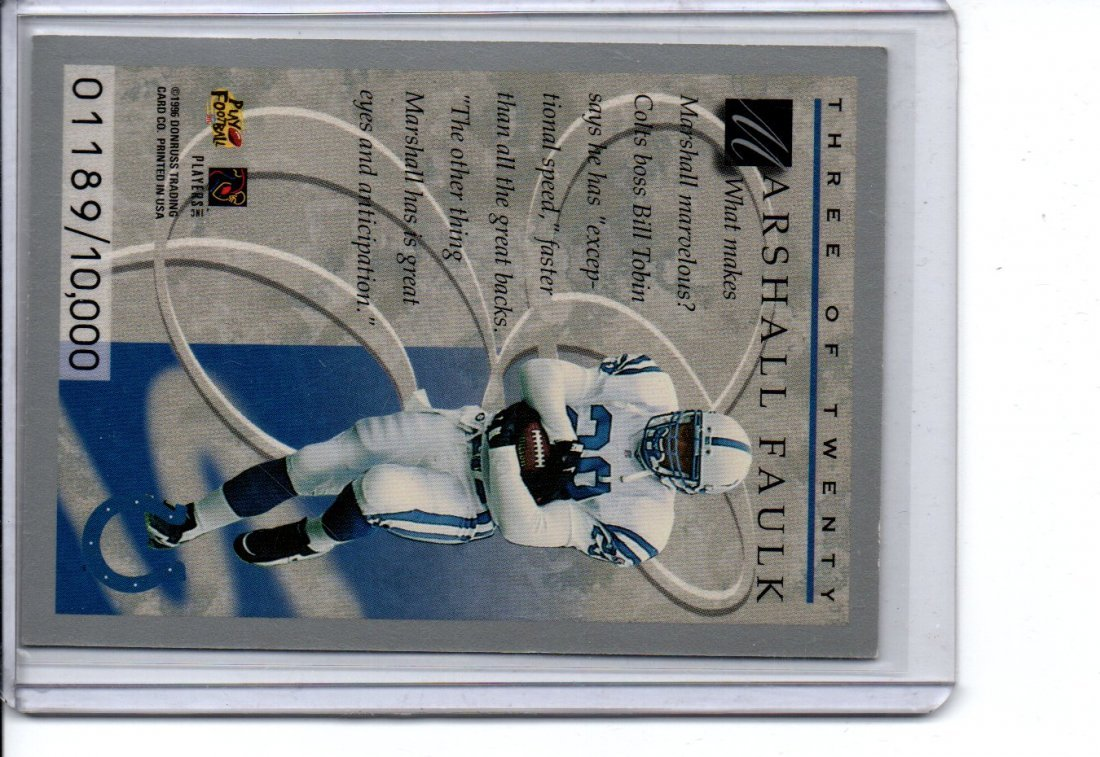 MARSHALL FAULK ELITE DONRUSS NFL FOOTBALL CARD - 2