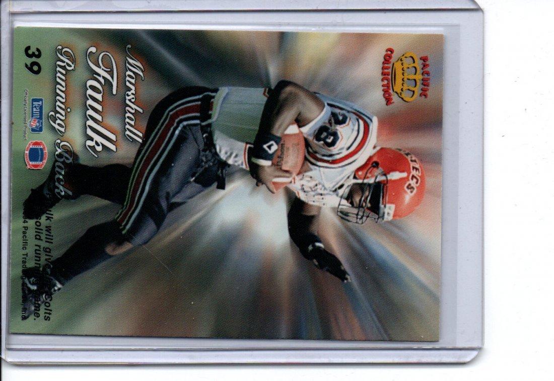 MARSHALL FAULK PACIFIC COLLECTION NFL FOOTBALL CARD - 2