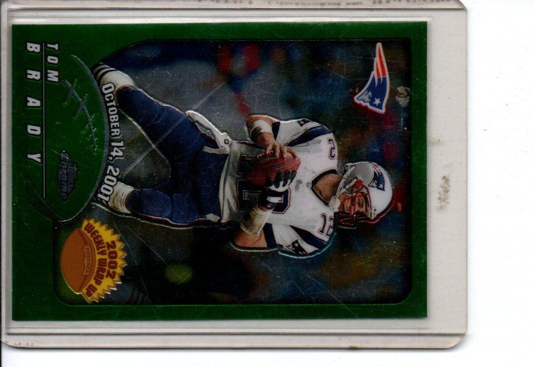 TOM BRADY #150 TOPPS CHROME NFL FOOTBALL CARD