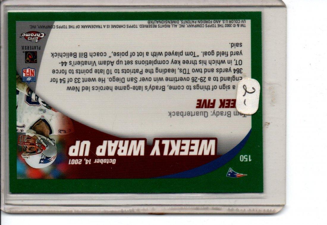 TOM BRADY #150 TOPPS CHROME NFL FOOTBALL CARD - 2