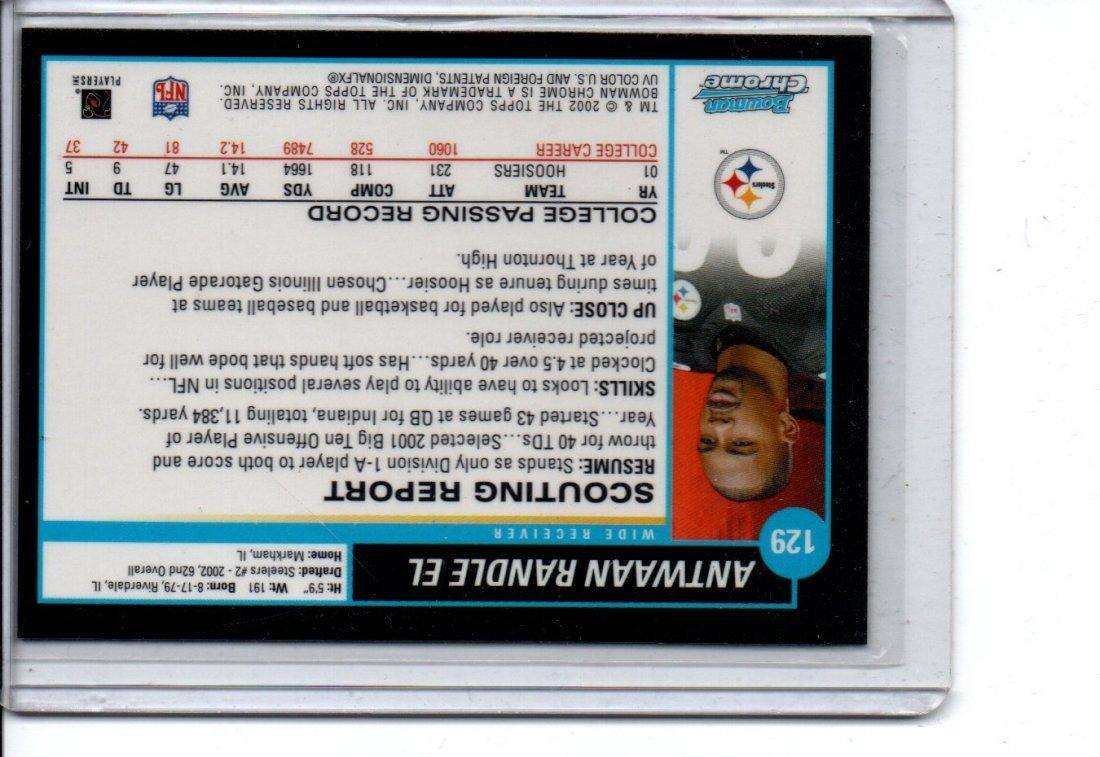 ANTWAAN RANDLE EL TOPPS NFL FOOTBALL CARD - 2
