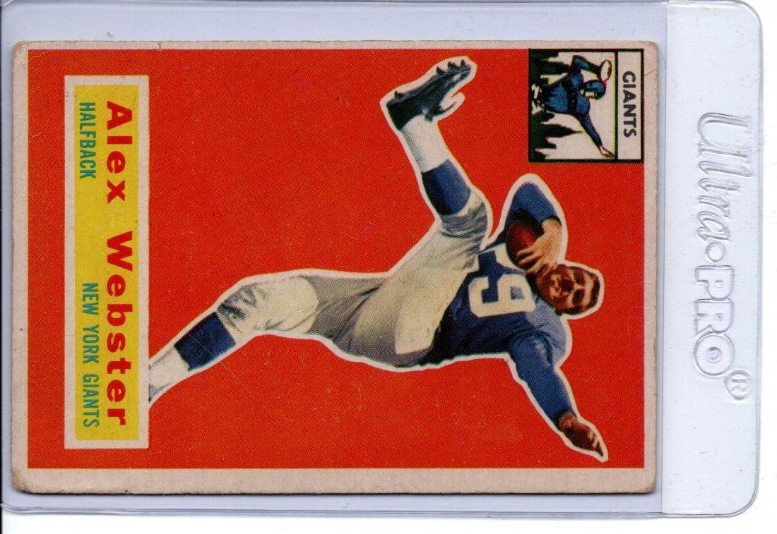 ALEX WEBSTER NEW YORK GIANTS NFL FOOTBALL CARD
