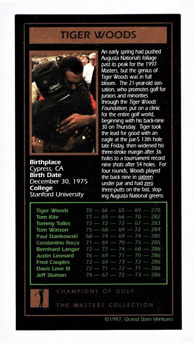 1997 TIGER WOOD ROOKIE CARD SPORTS CARD - 2