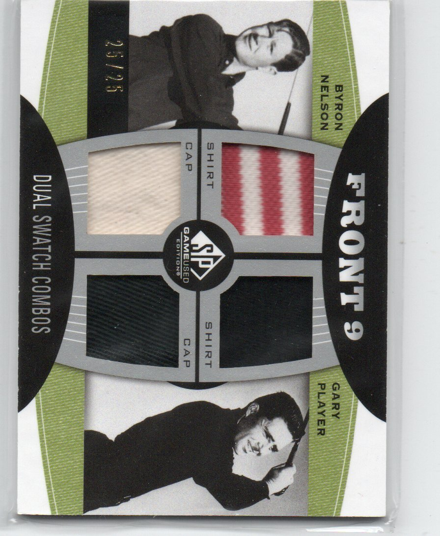 BYRON NELSON / GARY PLAYER GAME USED CARD SPORTS CARD