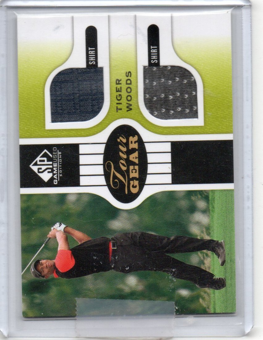 TIGER WOODS 2013 SP PLAYER GAME USED CARD SPORTS CARD