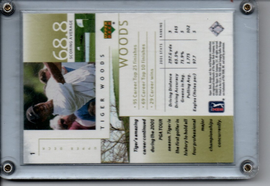 TIGER WOODS UPPER DECK #1 CARD SPORTS CARD - 2