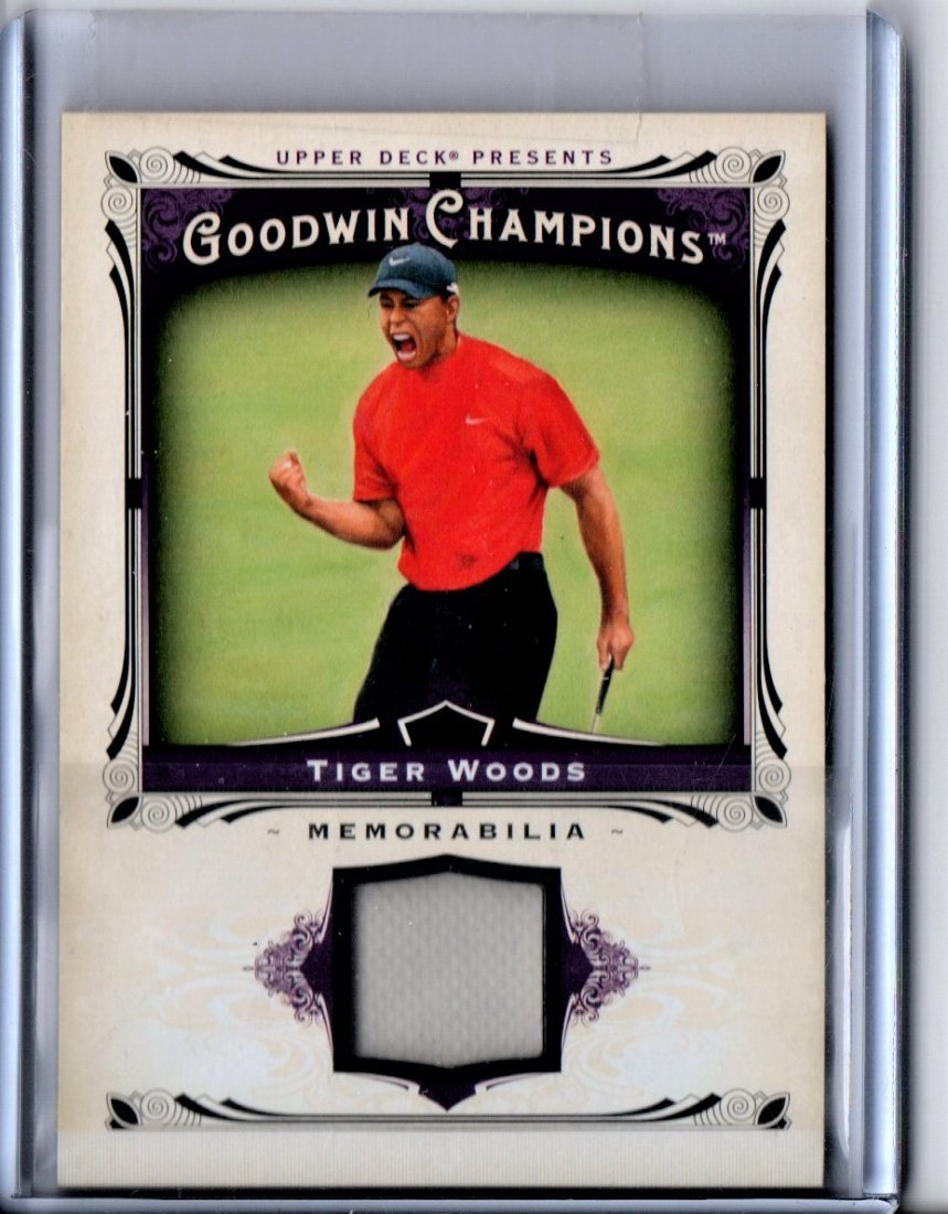 TIGER WOODS GOODWIN GAME USED JERSEY CARD SPORTS CARD