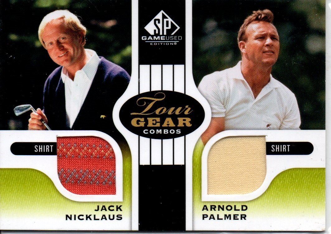 NICKLAUS / PALMER GAME USED JERSEY CARD SPORTS CARD