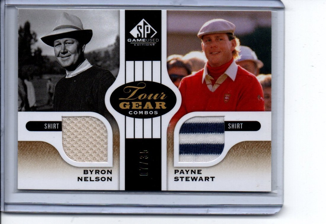 NELSON/STEWART GAME USED JERSEY CARD SPORTS CARD