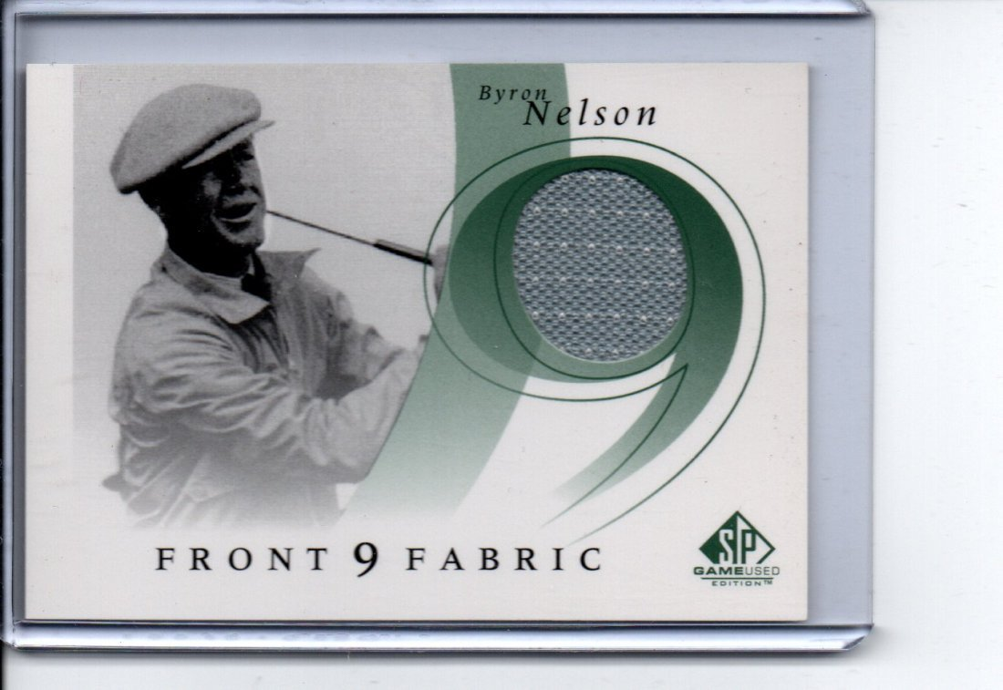 BYRON NELSON  FRONT 9 GAME USED JERSEY CARD SPORTS CARD