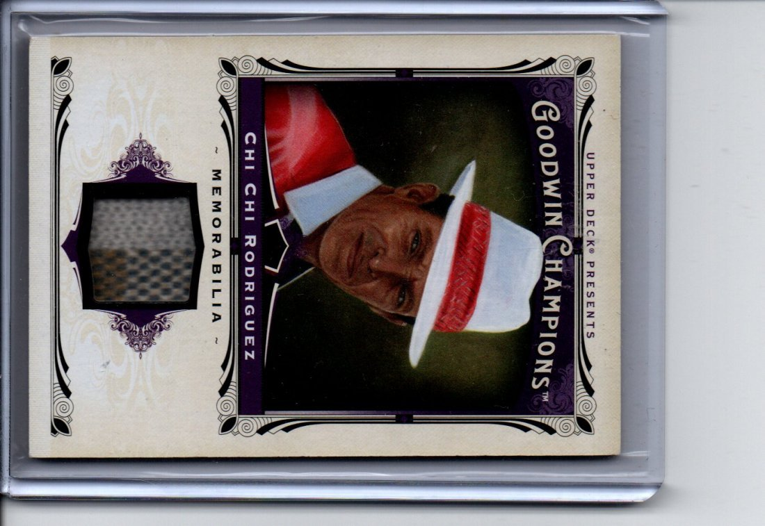CHI CHI RODRIGUEZ GOODWIN GAME USED CARD SPORTS CARD