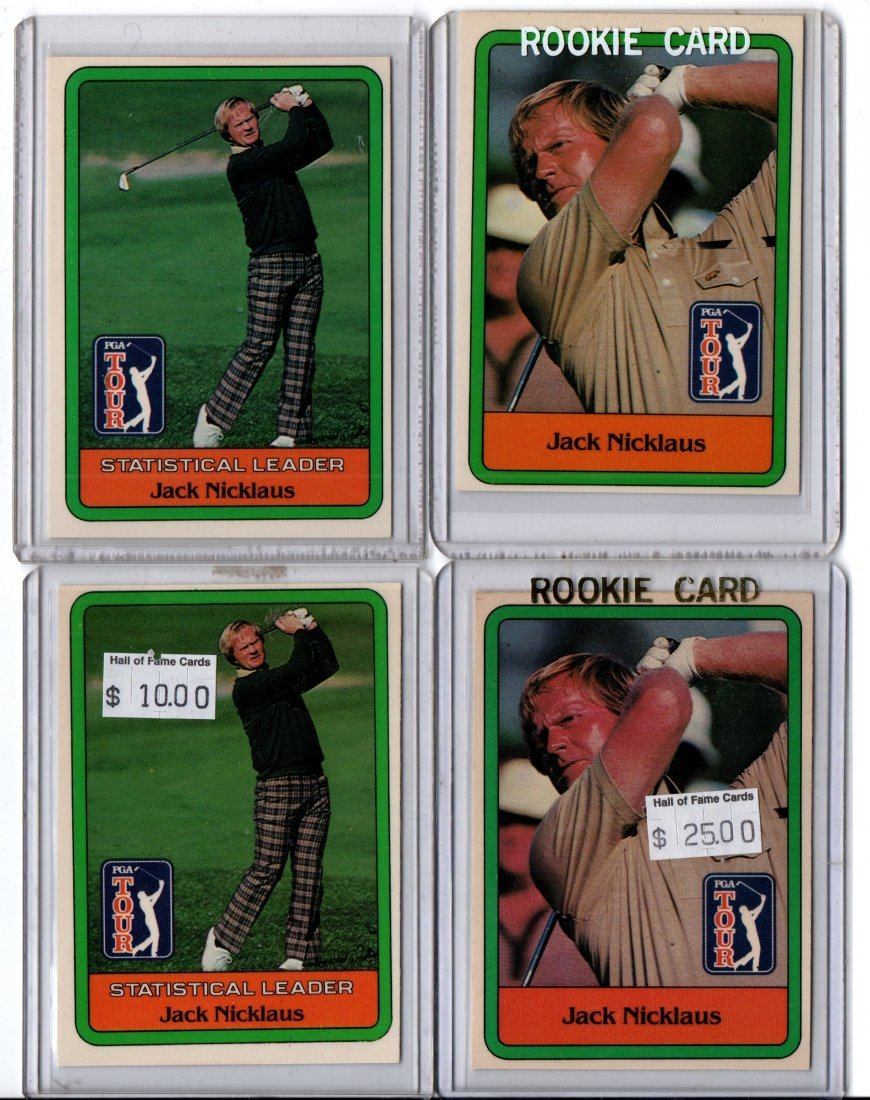 JACK NICKLAUS LOT OF 4 GOLF CARD SPORTS CARD