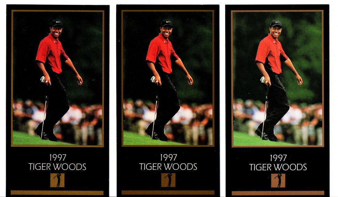1997 TIGER WOODS ROOKIE LOT OF 4 GOLF CARD SPORTS CARD