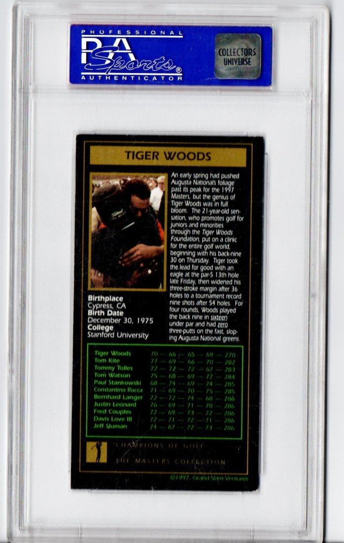 1998 PSA GRADED TIGER WOODS GOLF CARD SPORTS CARD - 2