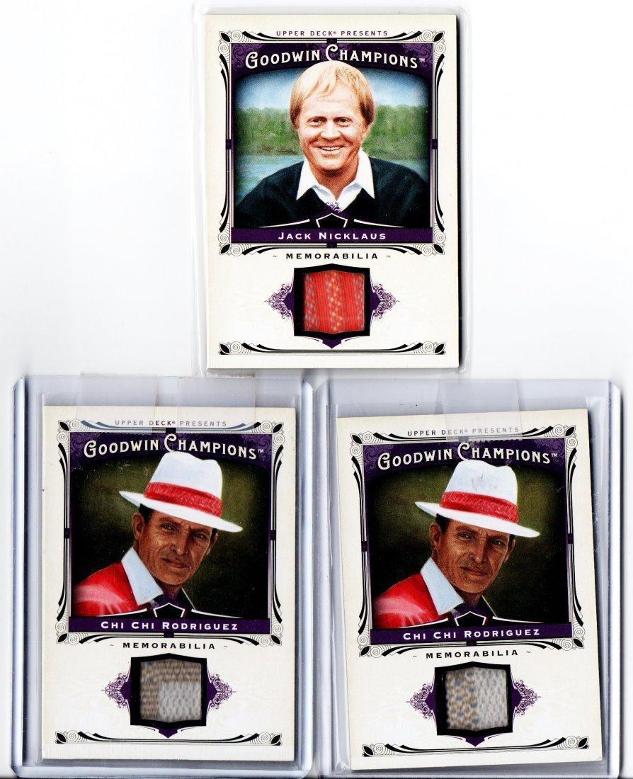 GOODWIN CHAMPIONS LOT OF 3 GOLF CARD SPORTS CARD