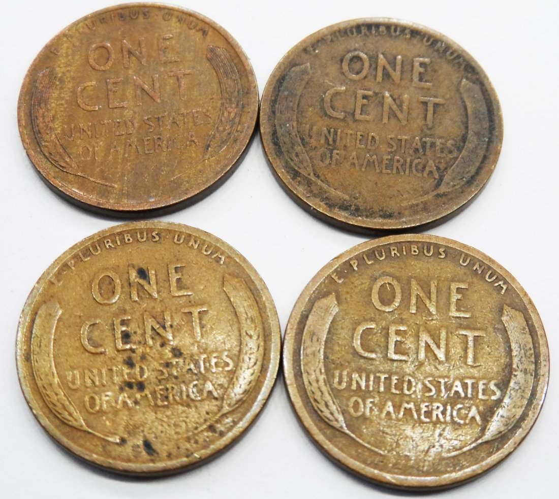 1910, 1911, 1918, 1927 Lincoln 1 Cent Penny Pennies Lot - 2