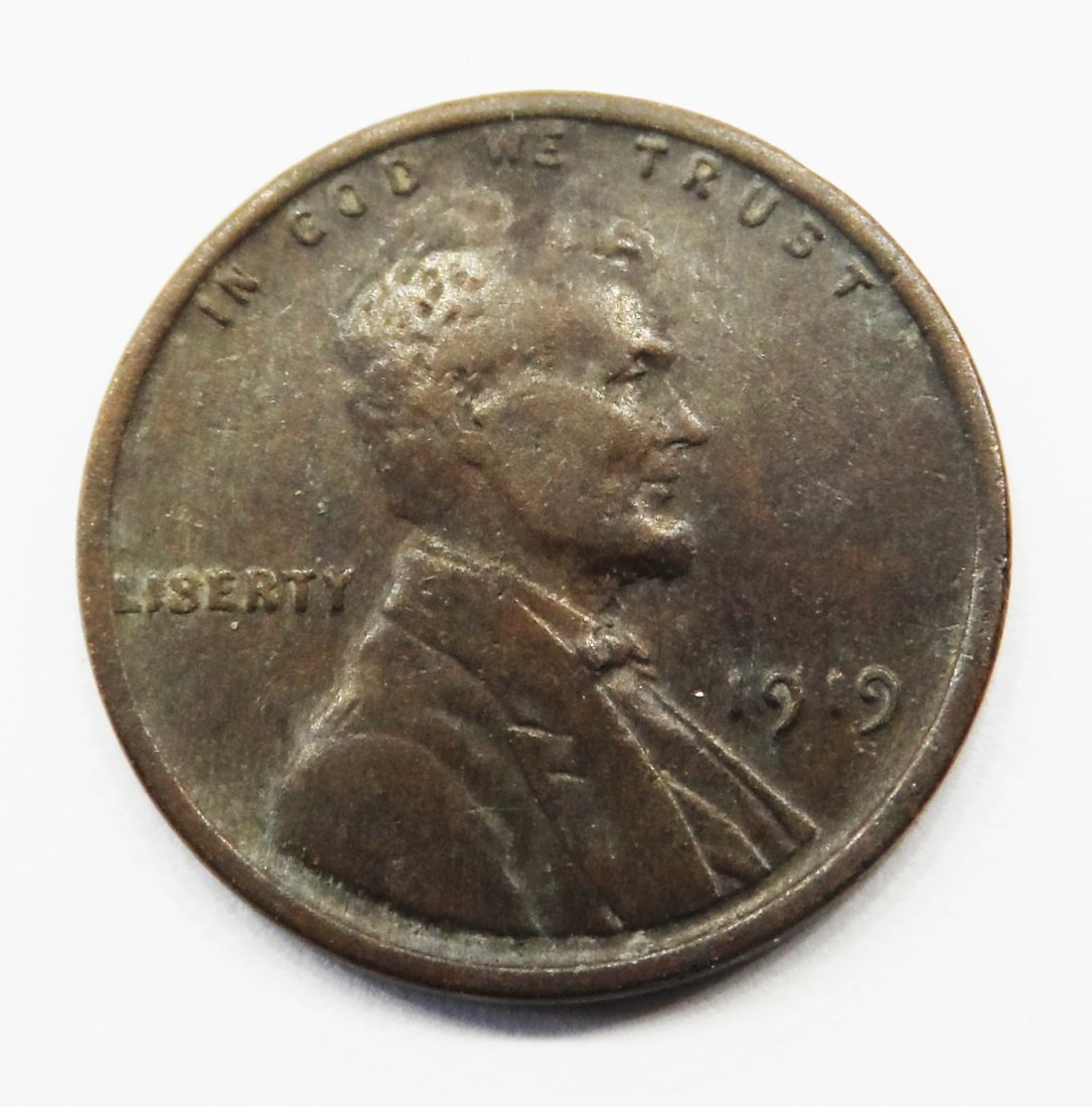 1919 Wheat Cent Lincoln Head Penny One Cent