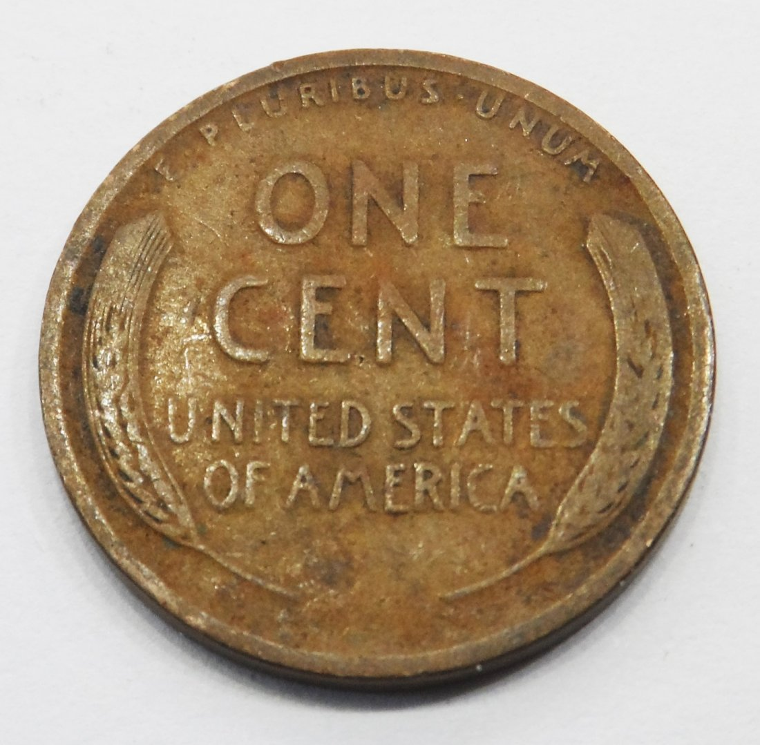 1913 Wheat Cent Lincoln Head Penny One Cent - 2