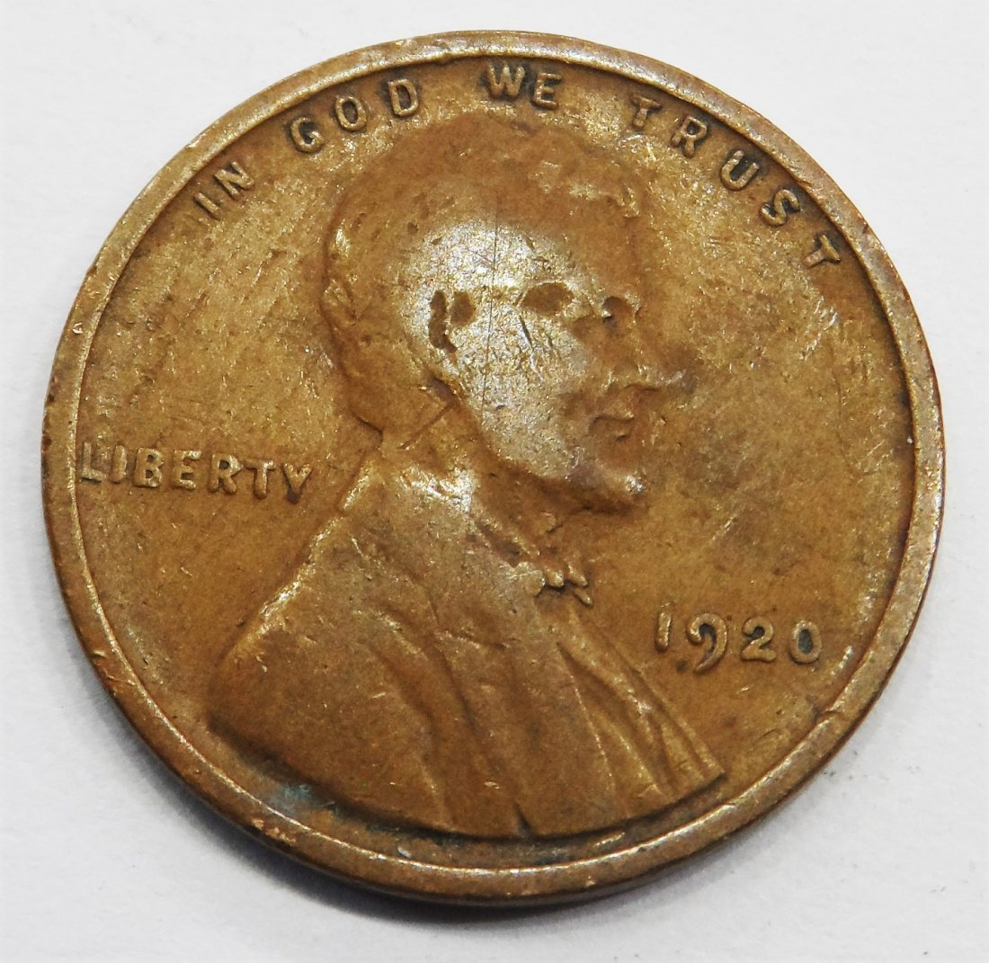1920 Wheat Cent Lincoln Head Penny One Cent