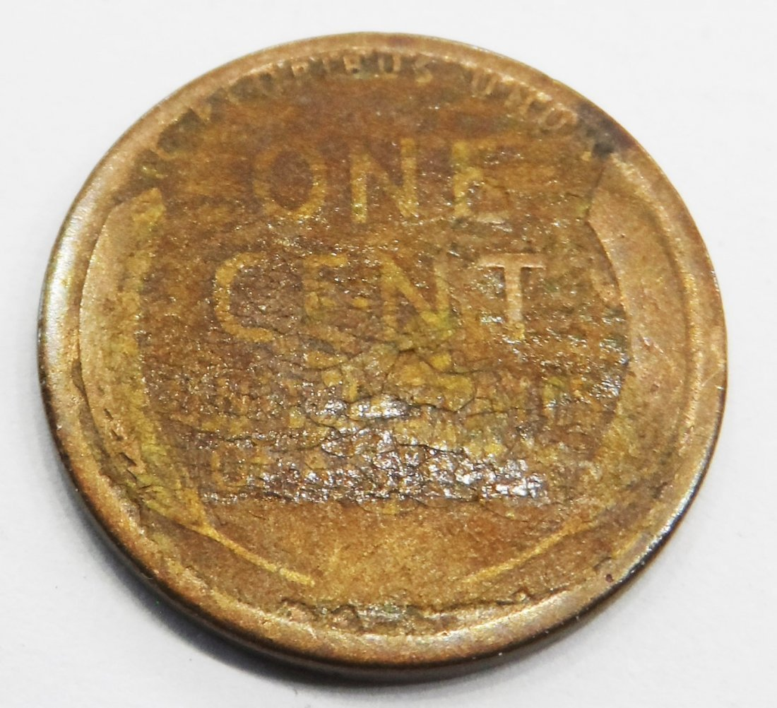 1919 S Wheat Cent Lincoln Head Penny One Cent - 2